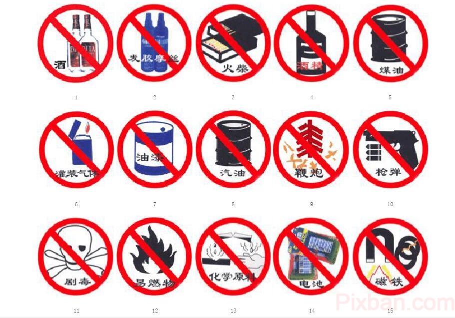 國際物流中的違禁品示圖