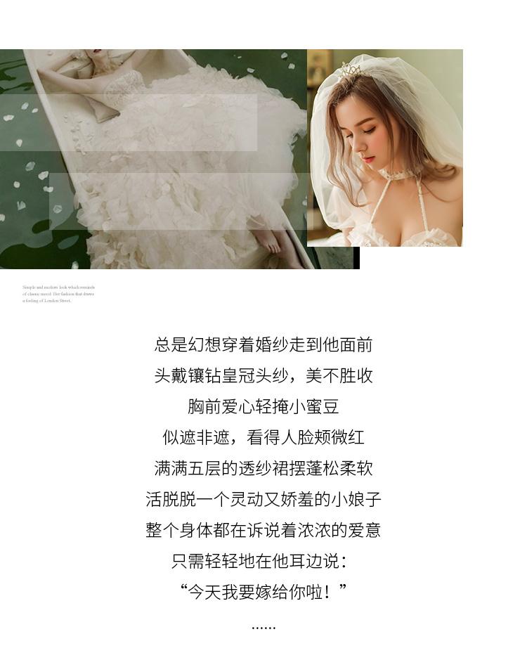 情趣内衣新娘头纱蓬蓬公主裙摆刺绣性感睡裙  情趣内衣