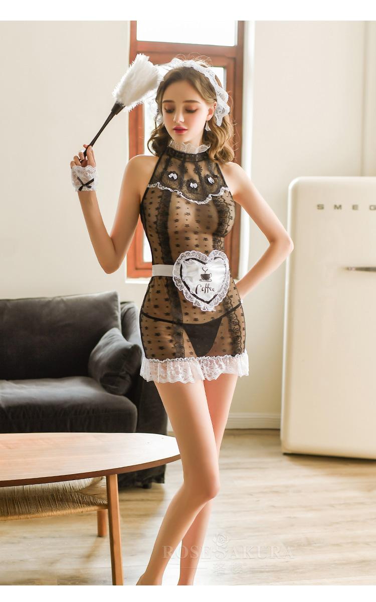 情趣内衣性感公主蕾丝碎花复古宫廷女仆套装  情趣內衣