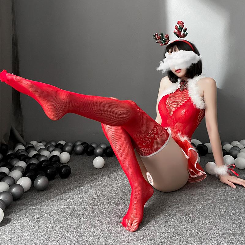 聖誕節情趣內衣女角色扮演公主裙制服性感連體網衣套裝  情趣制服 情趣内衣
