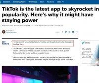 國際版抖音Tiktok美國App Store下載量第一位